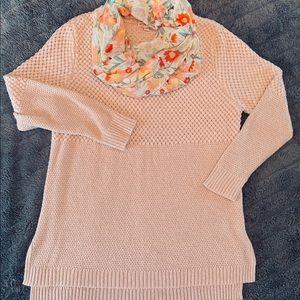 Blush Pink Merona Tunic Sweater XXL